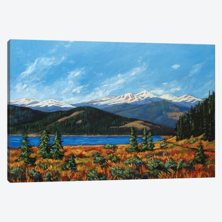 Mount Evans, Colorado 3-Piece Canvas #PTB83} by Patty Baker Art Print
