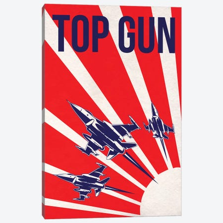 Top Gun Alternative Poster Canvas Print #PTE100} by Popate Canvas Art Print