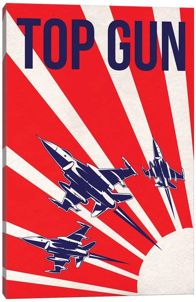 Top Gun Alternative Poster Canvas Art Print