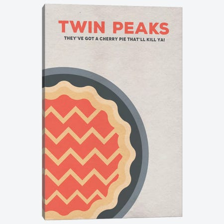 Twin Peaks Alternative Poster Canvas Print #PTE101} by Popate Canvas Print