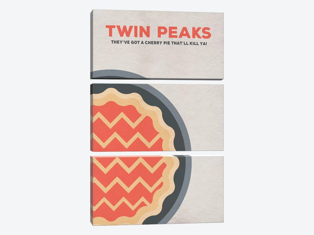 Twin Peaks Alternative Poster 3-piece Canvas Art