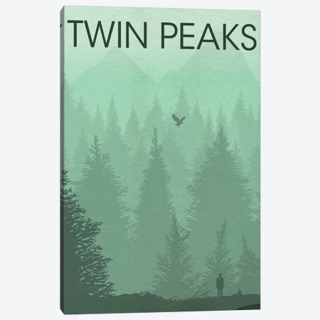 Twin Peaks Landscape Poster Canvas Print #PTE102} by Popate Canvas Print