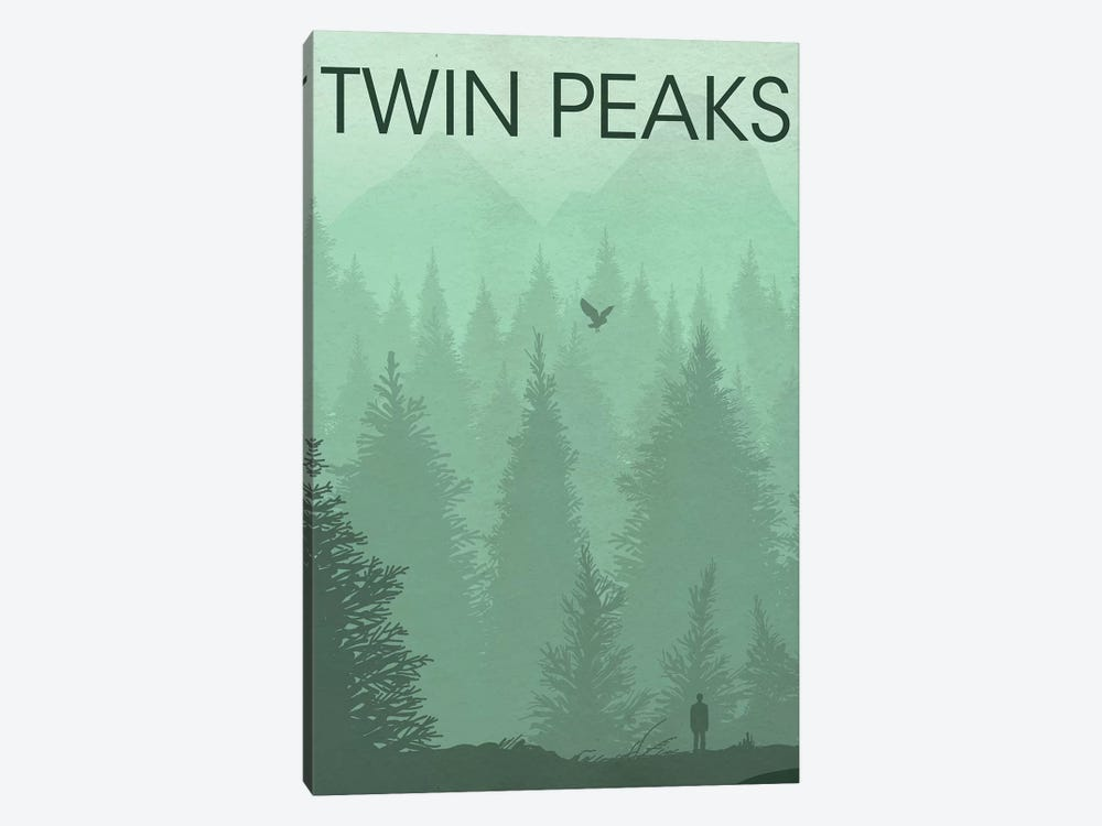 Twin Peaks Landscape Poster by Popate 1-piece Canvas Print