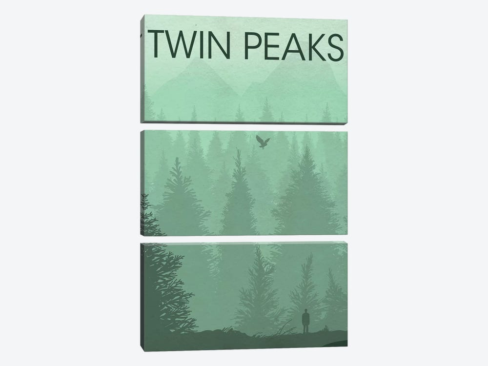 Twin Peaks Landscape Poster by Popate 3-piece Canvas Print
