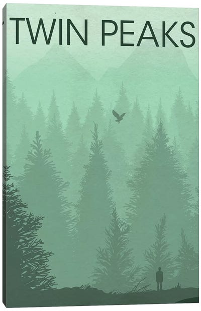 Twin Peaks Landscape Poster Canvas Art Print