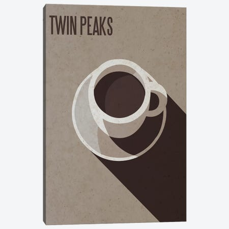 Twin Peaks Minimalist Poster Canvas Print #PTE103} by Popate Canvas Art Print