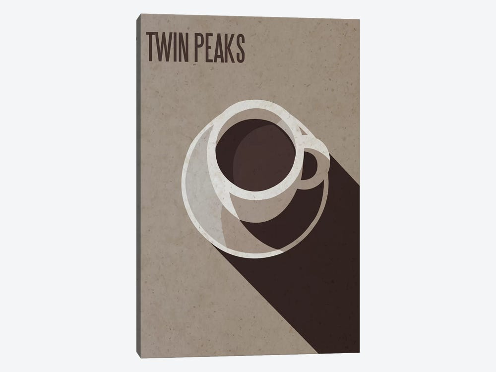 Twin Peaks Minimalist Poster by Popate 1-piece Canvas Art