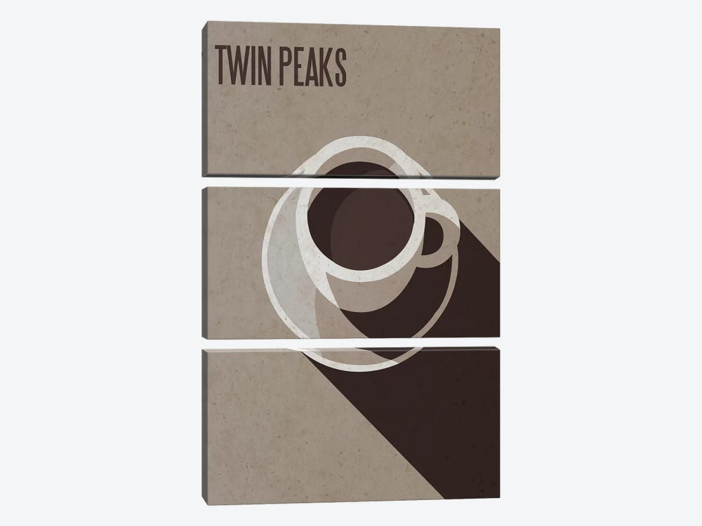 Twin Peaks Minimalist Poster by Popate 3-piece Canvas Artwork