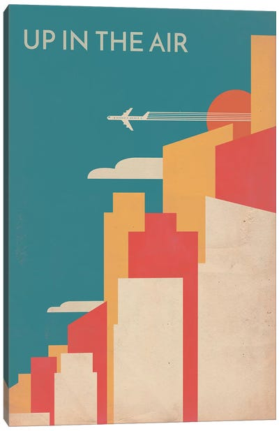 Up In The Air Vintage Alternative Poster Canvas Art Print