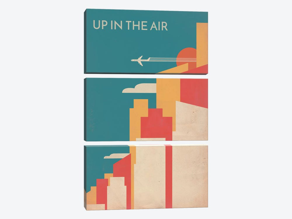 Up In The Air Vintage Alternative Poster by Popate 3-piece Art Print