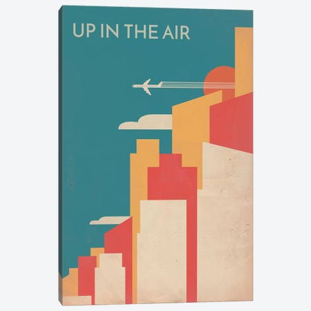 Up In The Air Vintage Alternative Poster 3-Piece Canvas #PTE104} by Popate Canvas Art