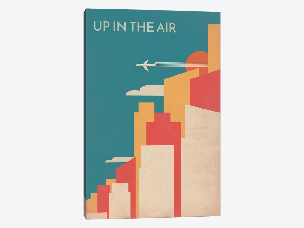 Up In The Air Vintage Alternative Poster by Popate 1-piece Canvas Art Print