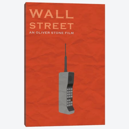 Wall Street Minimalist Poster Canvas Print #PTE106} by Popate Canvas Wall Art