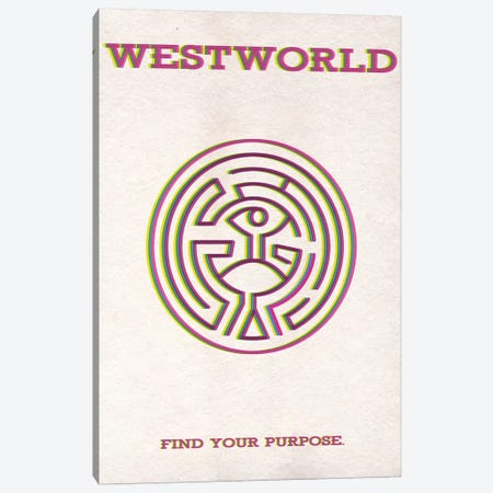 Westworld Minimalist Poster Canvas Print #PTE107} by Popate Canvas Art