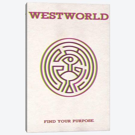 Westworld Minimalist Poster 3-Piece Canvas #PTE107} by Popate Canvas Art