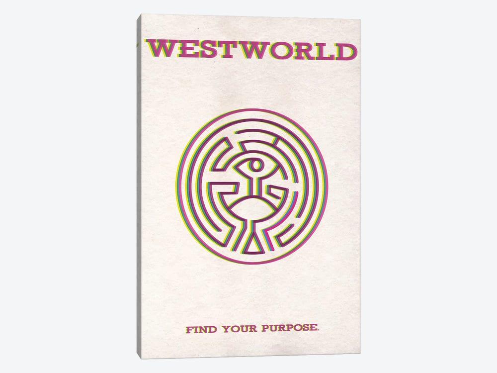 Westworld Minimalist Poster by Popate 1-piece Canvas Artwork