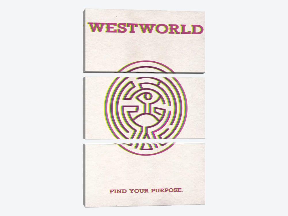Westworld Minimalist Poster by Popate 3-piece Canvas Art
