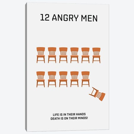 12 Angry Men Minimalist Poster Canvas Print #PTE109} by Popate Canvas Print