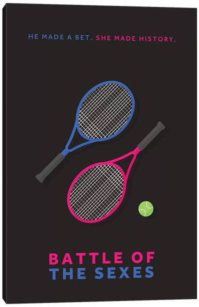 Battle Of The Sexes Minimalist Poster Canvas Art Print