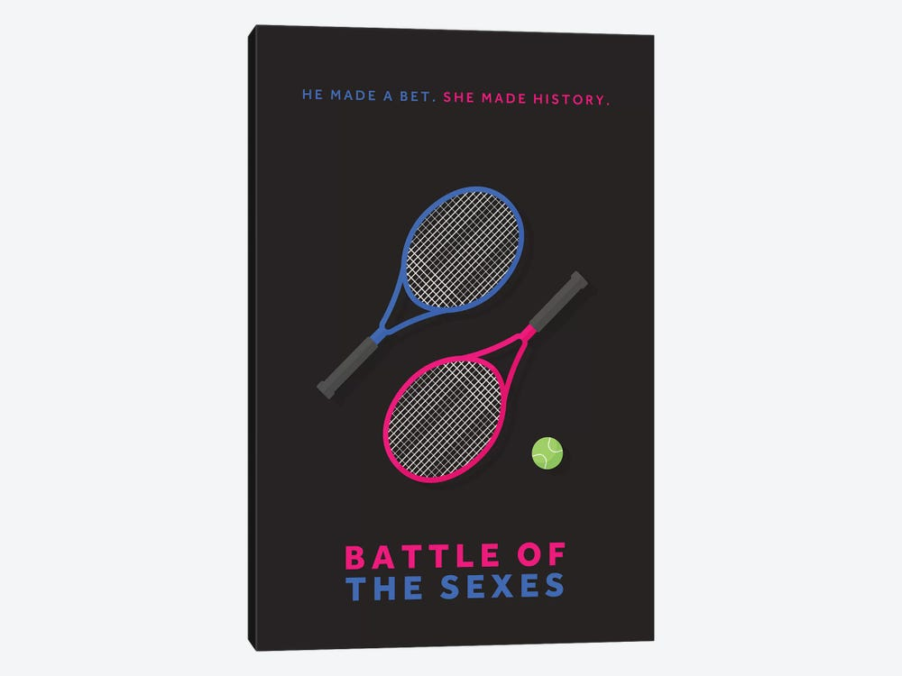 Battle Of The Sexes Minimalist Poster by Popate 1-piece Canvas Print