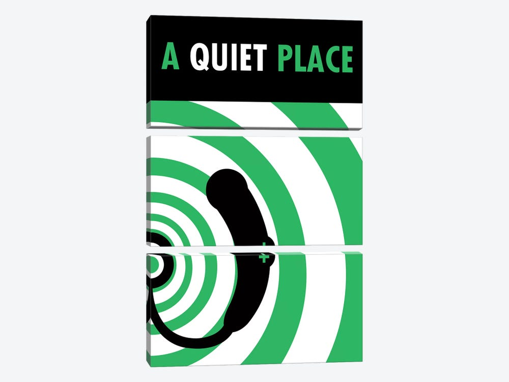 A Quiet Place Minimalist Poster I by Popate 3-piece Canvas Art