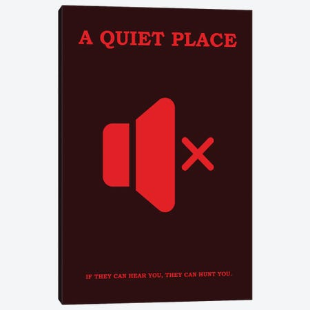 A Quiet Place Minimalist Poster II Canvas Print #PTE111} by Popate Canvas Art