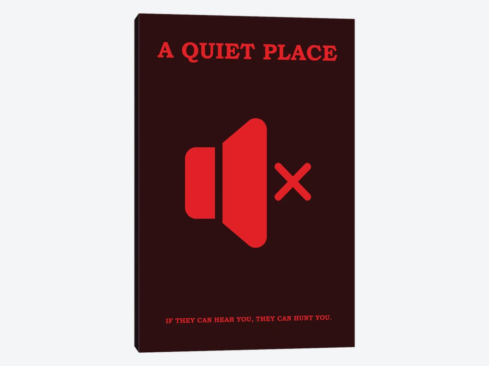 A Quiet Place Minimalist Poster II by Popate 1-piece Canvas Print