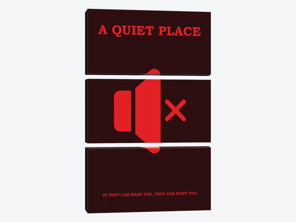 A Quiet Place Minimalist Poster II by Popate 3-piece Canvas Art Print