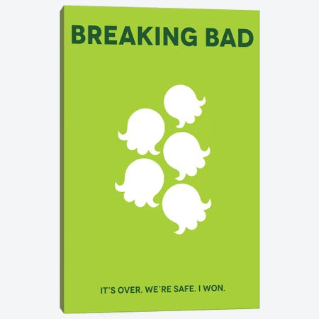 Breaking Bad Minimalist Poster Canvas Print #PTE117} by Popate Art Print