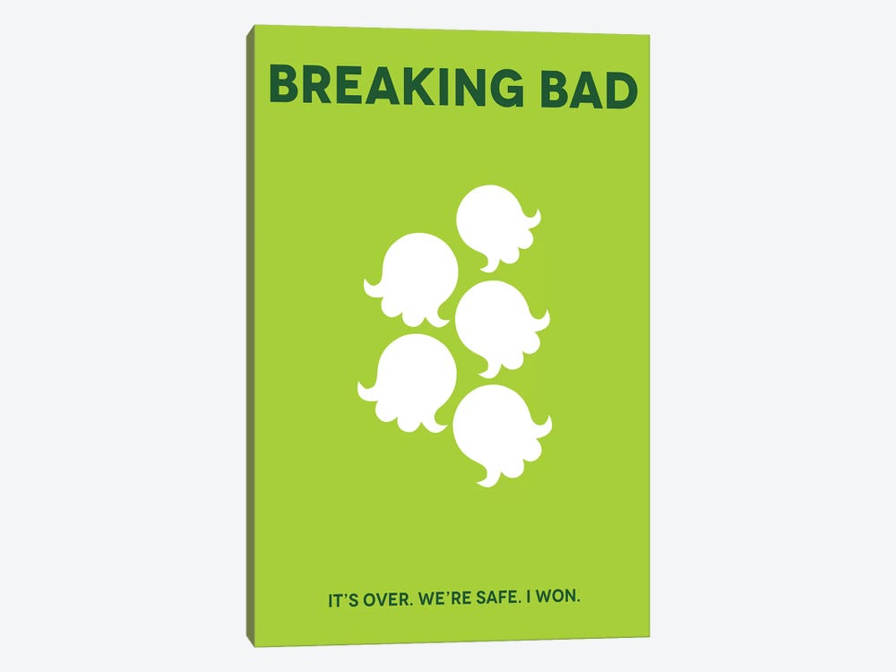 Breaking Bad Minimalist Poster by Popate 1-piece Canvas Art Print