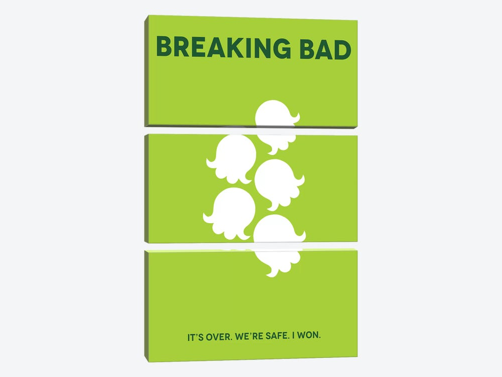 Breaking Bad Minimalist Poster by Popate 3-piece Canvas Art Print