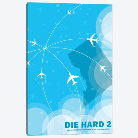 Die Hard 2 Minimalist Poster Canvas Print #PTE119} by Popate Canvas Artwork