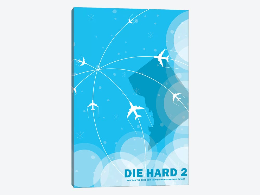 Die Hard 2 Minimalist Poster by Popate 1-piece Canvas Art Print