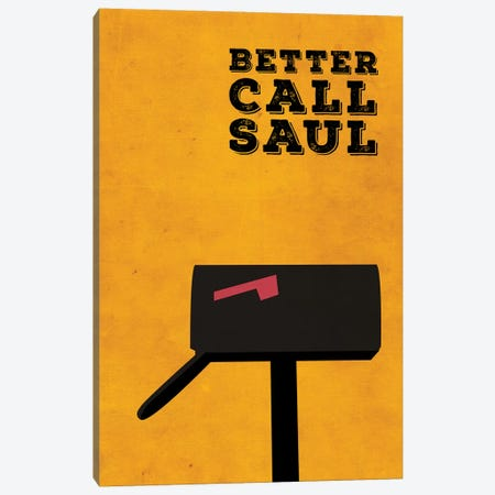 Better Call Saul Minimalist Poster Canvas Print #PTE11} by Popate Canvas Print