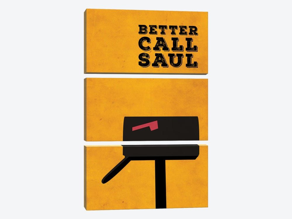 Better Call Saul Minimalist Poster by Popate 3-piece Canvas Art