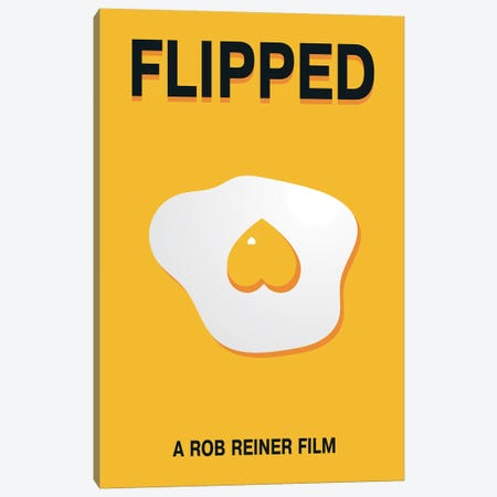 Flipped Minimalist Poster Canvas Print #PTE121} by Popate Art Print