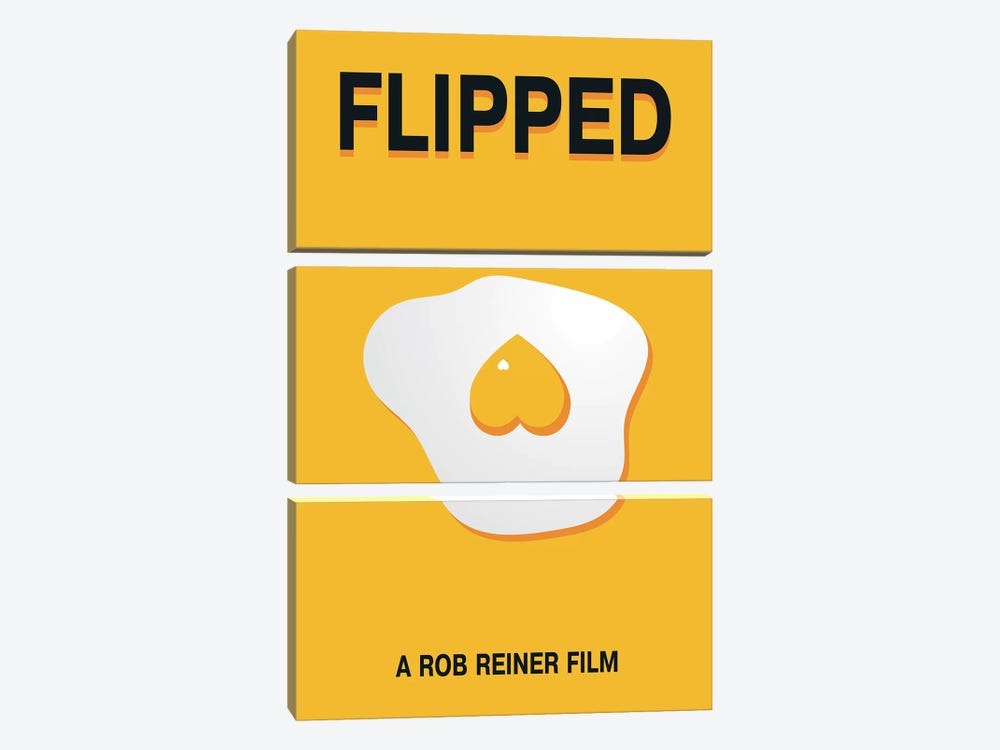 Flipped Minimalist Poster by Popate 3-piece Canvas Artwork