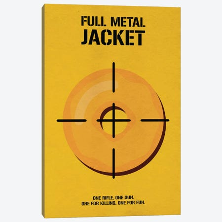 Full Metal Jacket Minimalist Poster I Canvas Print #PTE122} by Popate Canvas Art Print