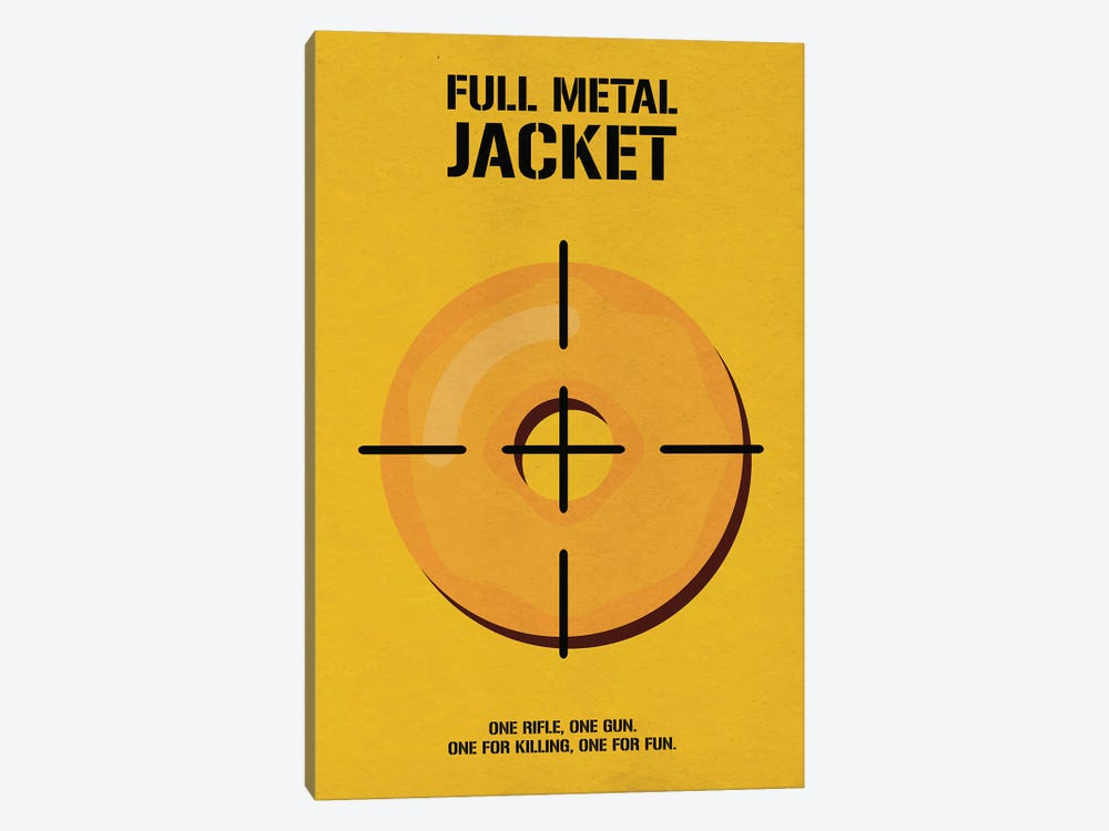 Full Metal Jacket Minimalist Poster I by Popate 1-piece Art Print