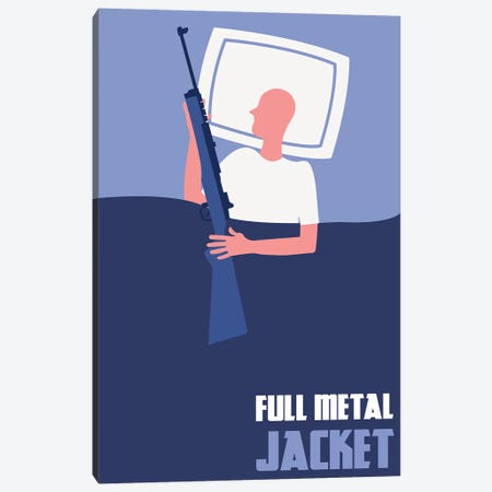 Full Metal Jacket Minimalist Poster II Canvas Print #PTE123} by Popate Art Print