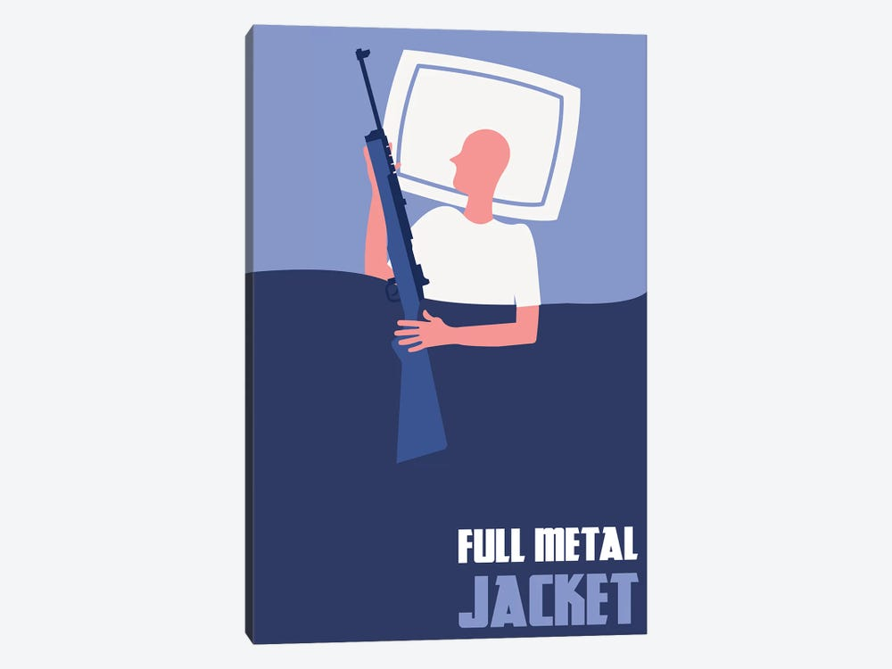 Full Metal Jacket Minimalist Poster II by Popate 1-piece Canvas Artwork