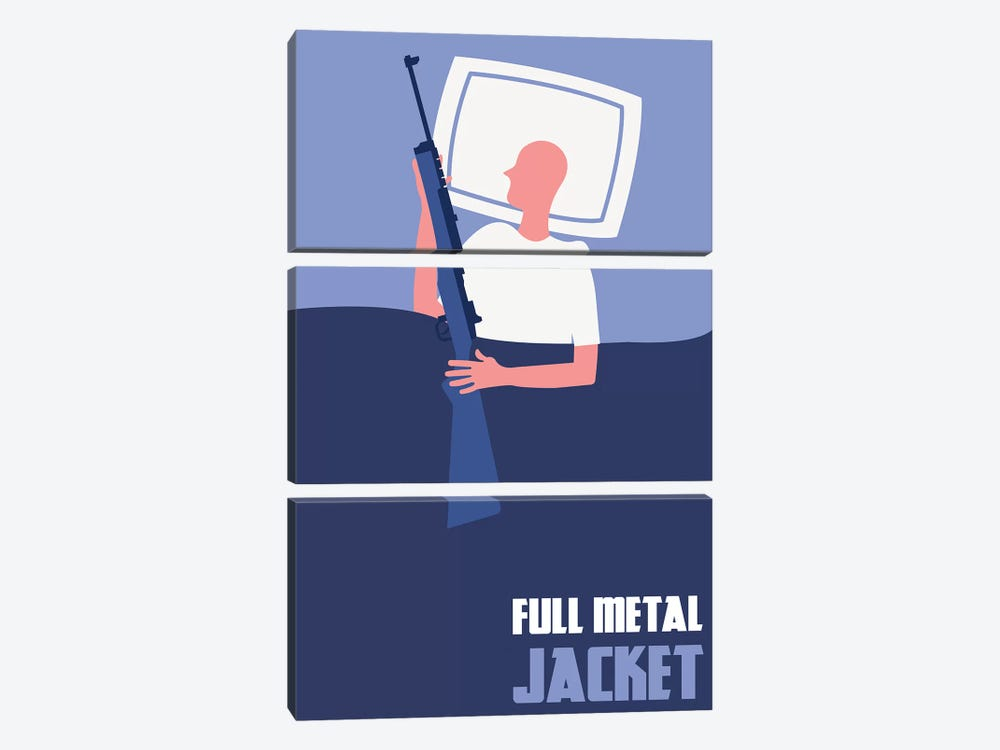 Full Metal Jacket Minimalist Poster II by Popate 3-piece Canvas Artwork