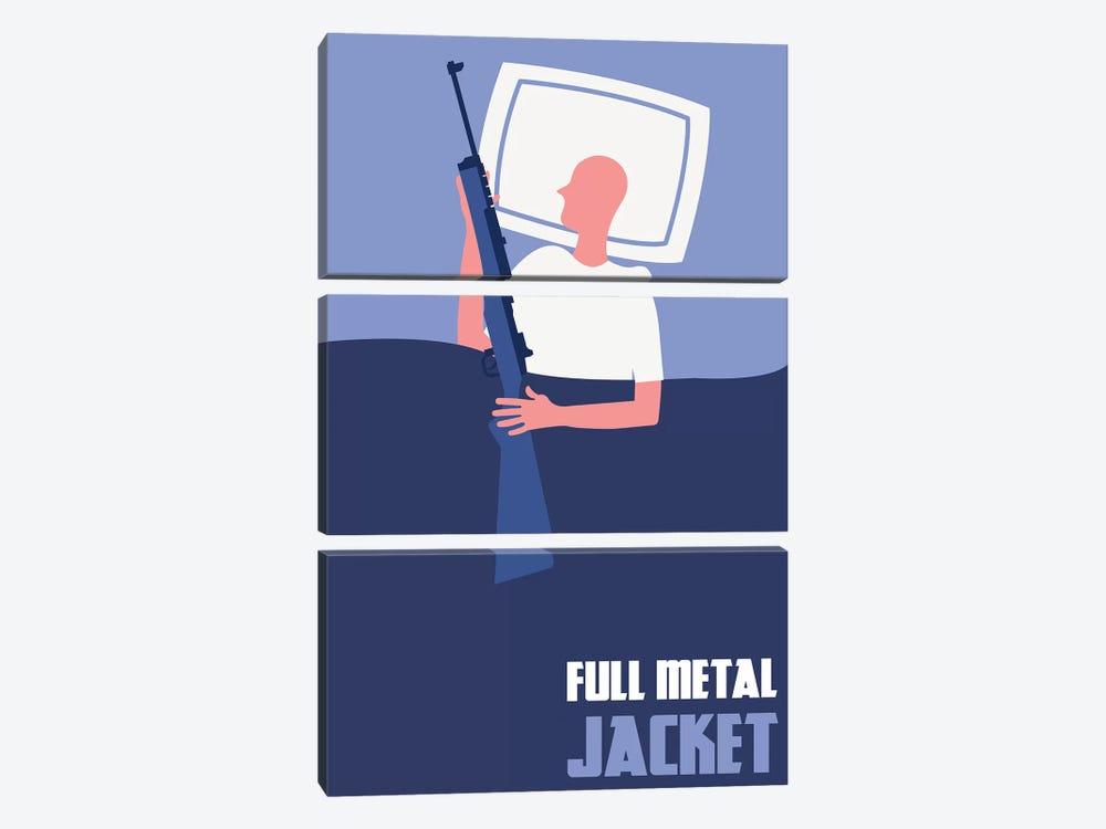 Full Metal Jacket Minimalist Poster II by Popate 3-piece Canvas Artwork