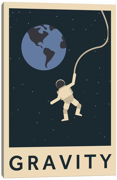 Gravity Minimalist Poster Canvas Art Print