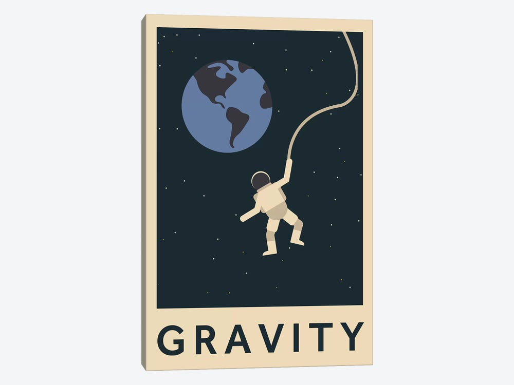 Gravity Minimalist Poster by Popate 1-piece Canvas Art