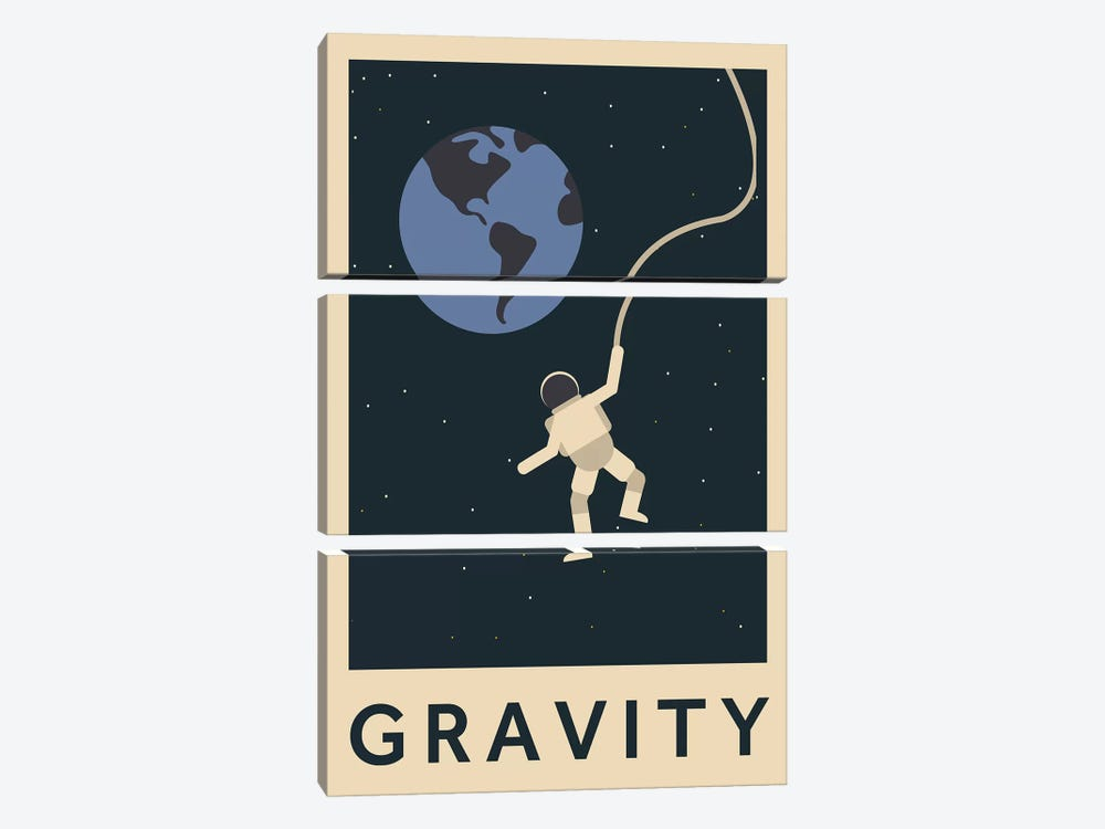 Gravity Minimalist Poster by Popate 3-piece Canvas Wall Art