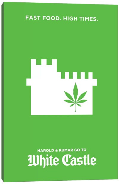 Harold & Kumar Go To White Castle Minimalist Poster Canvas Art Print