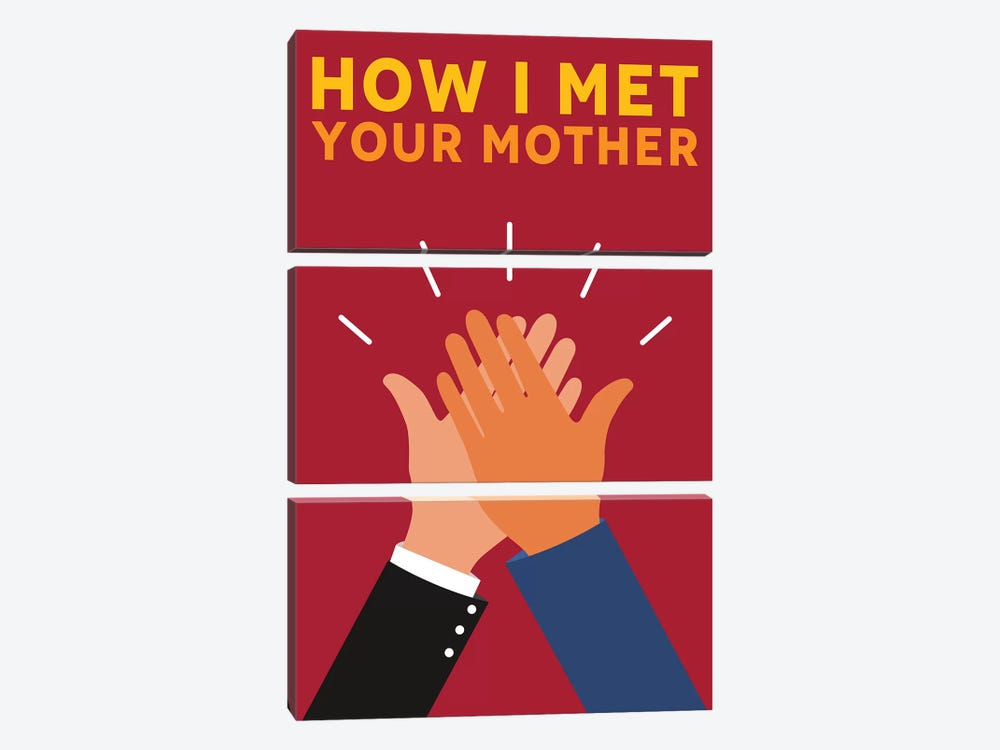 How I Met Your Mother Alternative Poster by Popate 3-piece Canvas Wall Art