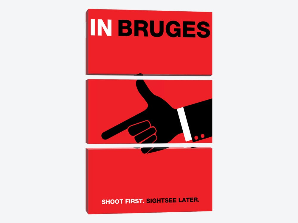 In Bruges Minimalist Poster by Popate 3-piece Art Print