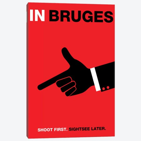 In Bruges Minimalist Poster Canvas Print #PTE128} by Popate Art Print